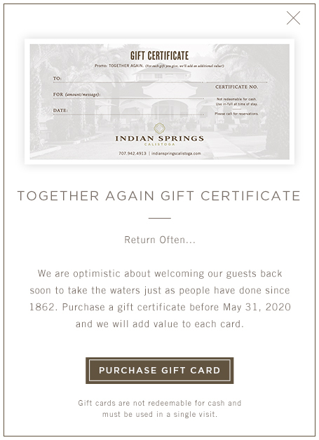 Together Again gift Certificate